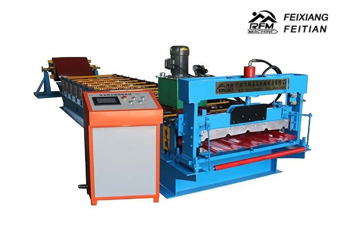 Sheet Metal Roll Forming Machines / Roof Tile Making Machine 1 Year Warrantee